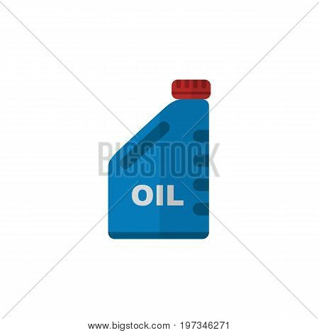 Petrol Vector Element Can Be Used For Petrol, Oil, Jerrycan Design Concept.  Isolated Oil Jerrycan Flat Icon.