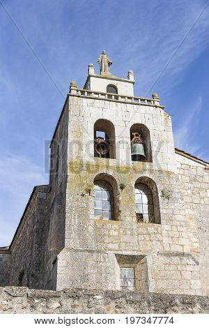 Santa Eulalia church in Los Ausines - Barrio de Quintanilla, province of Burgos, Spain