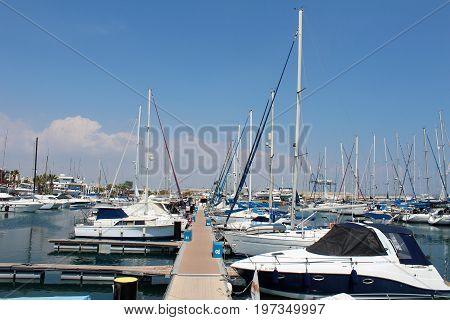 Larnaca Port, Cyprus