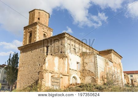 church of the convent of San Francisco in Ariza town, province of Zaragoza, Aragon, Spain