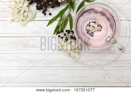 Elderberry ( Sambucus nigra) infusion in water