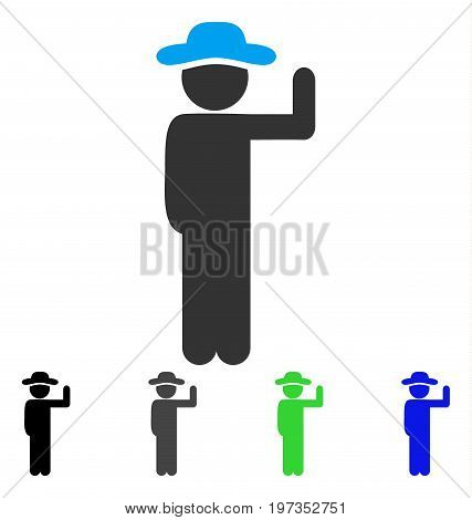 Gentleman Vote flat vector pictogram. Colored gentleman vote gray, black, blue, green icon versions. Flat icon style for graphic design.
