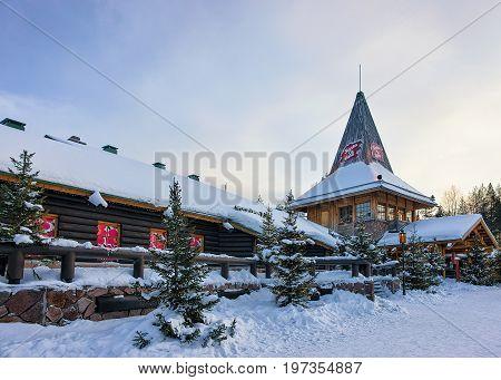 Santa Claus Village In Lapland Scandinavia