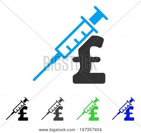 Drug Pound Business flat vector pictograph. Colored drug pound business gray, black, blue, green icon versions. Flat icon style for graphic design.