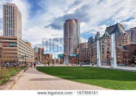Holocaust Memorial At Union Street Park In Boston America
