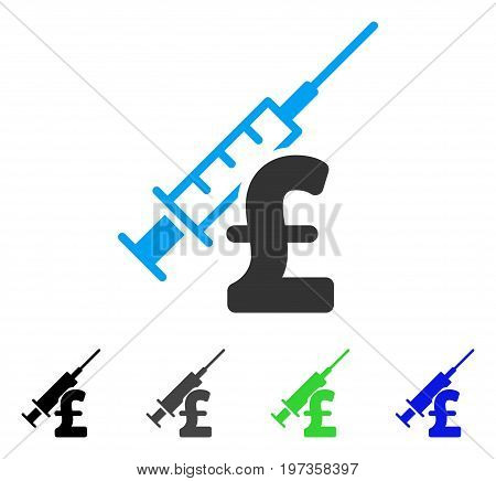 Narcotic Pound Business flat vector pictograph. Colored narcotic pound business gray, black, blue, green pictogram variants. Flat icon style for application design.