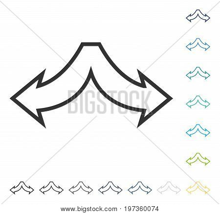 Choice Arrows Left Right icon. Vector illustration style is flat iconic symbol in some color versions.