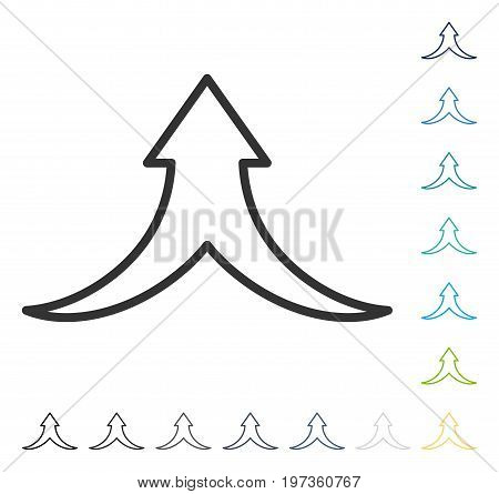Combine Arrow Up icon. Vector illustration style is flat iconic symbol in some color versions.