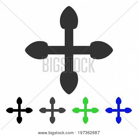 Arrows flat vector pictograph. Colored arrows gray, black, blue, green pictogram variants. Flat icon style for graphic design.