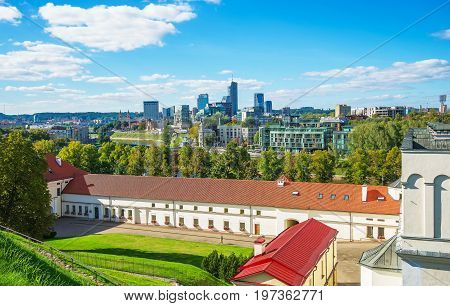 Financial District With Skyscrapers And Arsenal Vilnius Baltic