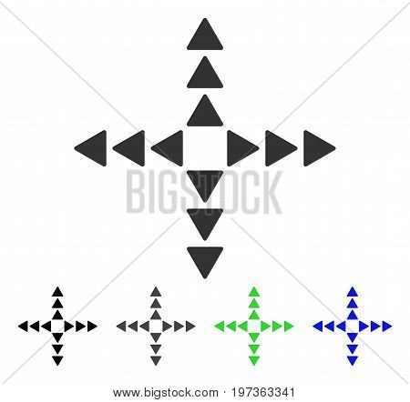 Outside Direction flat vector pictogram. Colored outside direction gray, black, blue, green icon variants. Flat icon style for application design.