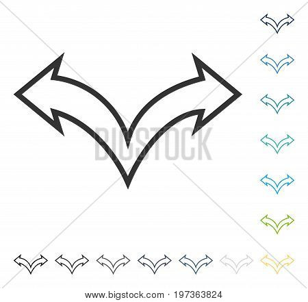 Junction Arrow Left Right icon. Vector illustration style is flat iconic symbol in some color versions.