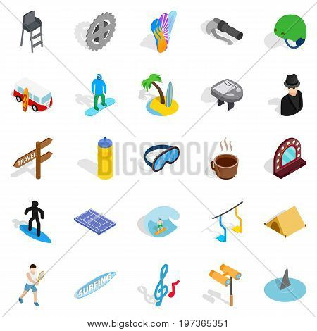 Comfort icons set. Isometric set of 25 comfort vector icons for web isolated on white background