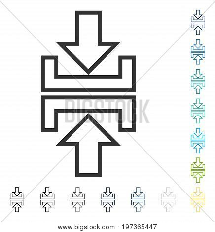 Pressure Arrows Vertical icon. Vector illustration style is flat iconic symbol in some color versions.