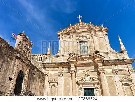 Jesuit College And St Ignatius Church In Dubrovnik