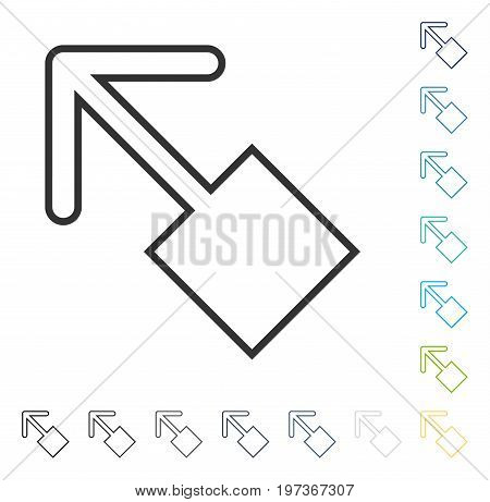 Pull Left Up icon. Vector illustration style is flat iconic symbol in some color versions.