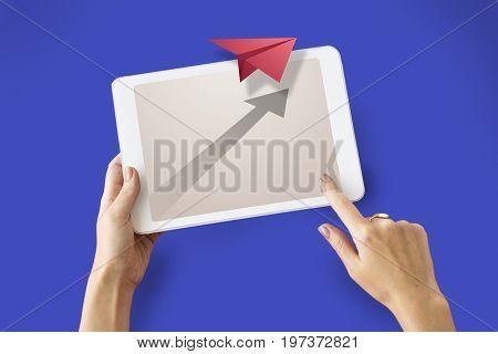 Children working on Network graphic overlay background pad