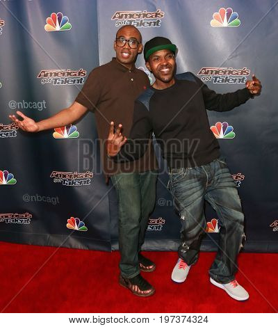 NEW YORK-AUG 26: Members of the CraigLewis Band attend the 'America's Got Talent' Season 10 Results Show at Radio City Music Hall on August 26, 2015 in New York City.