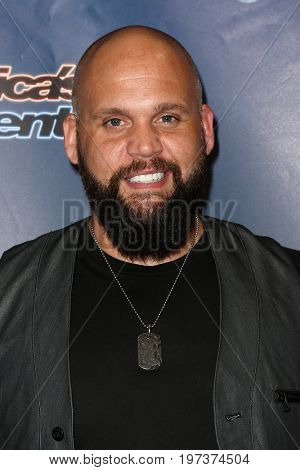 NEW YORK-AUG 26: Singer Benton Blount attends the 'America's Got Talent' Season 10 Results Show at Radio City Music Hall on August 26, 2015 in New York City.