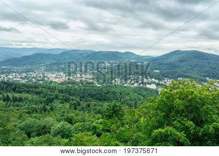 View of Baden-Baden from a bird's-eye view. Germany.
