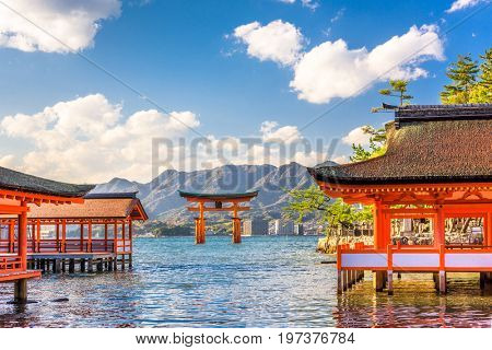 Miyajima, Hiroshima, Japan floating shrine.