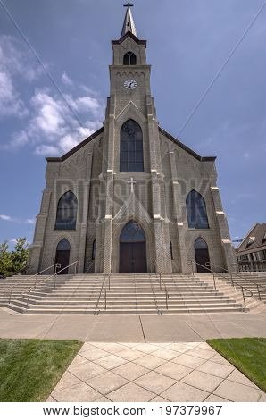 St. Mary Cathedral architecture in Mt. Angel Oregon.