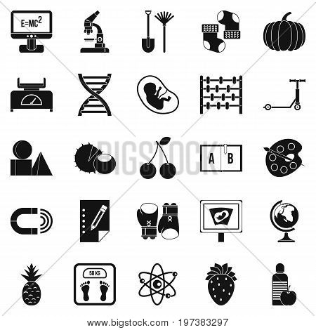Scientific approach icons set. Simple set of 25 scientific approach icons for web isolated on white background