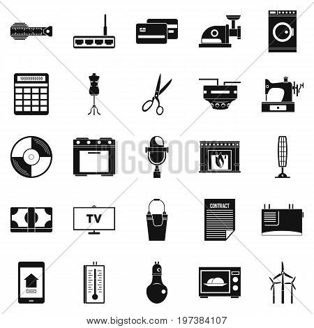 Computer staff icons set. Simple set of 25 computer staff vector icons for web isolated on white background