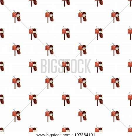 Mailbox pattern seamless repeat in cartoon style vector illustration