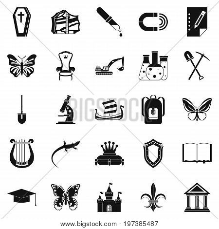 Cavity icons set. Simple set of 25 cavity vector icons for web isolated on white background