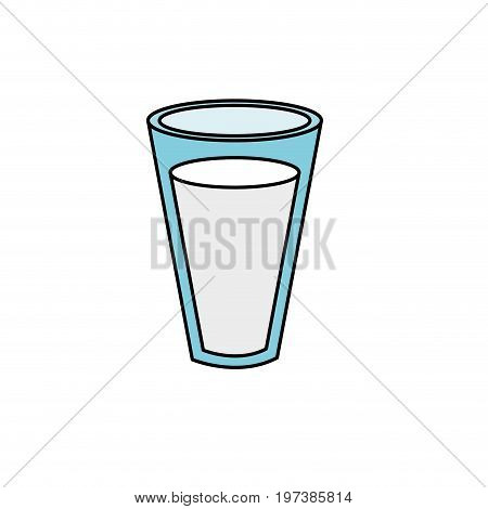 fesh and delicious natural milk vector illustration