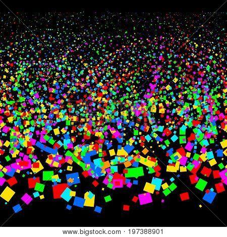Colorful horizontal seamless confetti pattern. Eps8. RGB Global colors