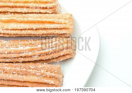 Churros Isolated On White Background
