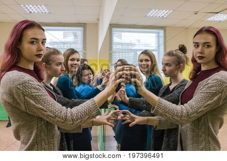 Girls In Class For Fashion Models In The Fashion Agency Called T