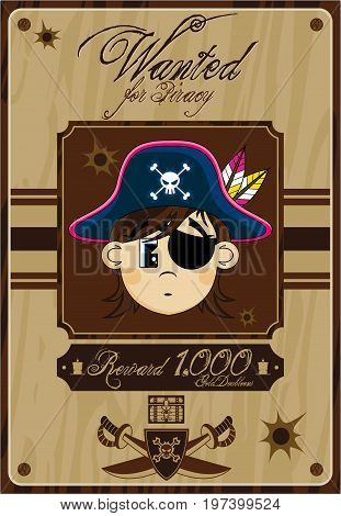 Cute Pirate Wanted Poster.eps