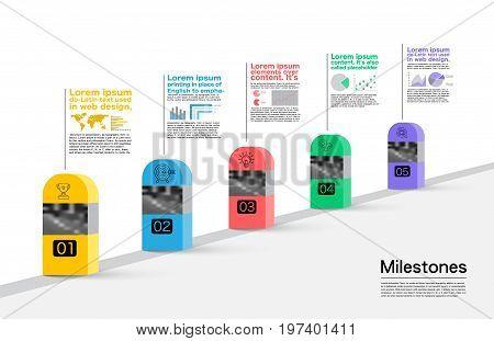 Milestones Company Infographic, Vector, milestone vector, bvusiness