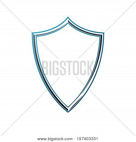 Luxury frame with empty copy-space vector security shield or shelter.