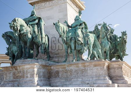 Heroes Square In Budapest, A Square Dedicated To The Hungarian Kings