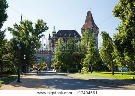 Castle Vaidahunyad, Built In The Style Of Eclecticism. Budapest