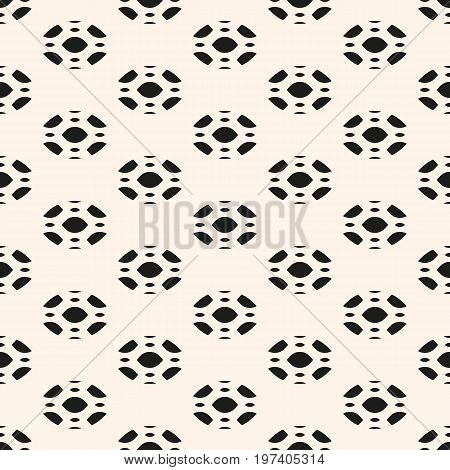 Geometric pattern. Subtle abstract geometric background. Vector seamless pattern. Elegant monochrome ornament texture with rounded figures. Decorative design element for prints, textile, furniture, linens, cloth, fabric. Design pattern.