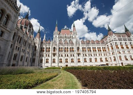 Details Of The Parliament House Southeast Side In Budapest