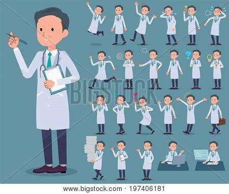 Flat Type Doctor Old Man_1