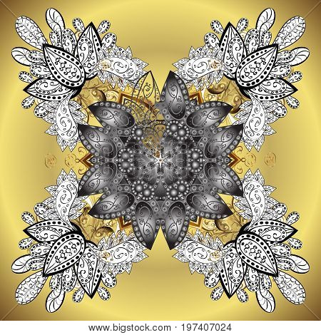 Isolated of vector snowflake. Fine winter ornament. Colorful snowflakes Vector illustration.