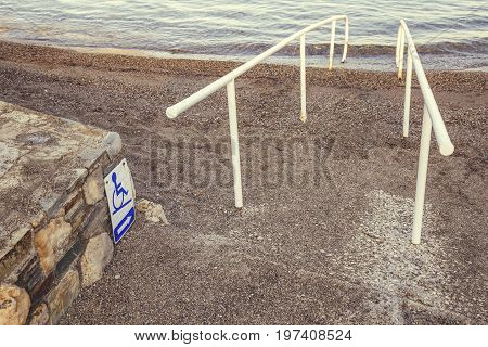 Beach Access And Sign For The Disabled 5