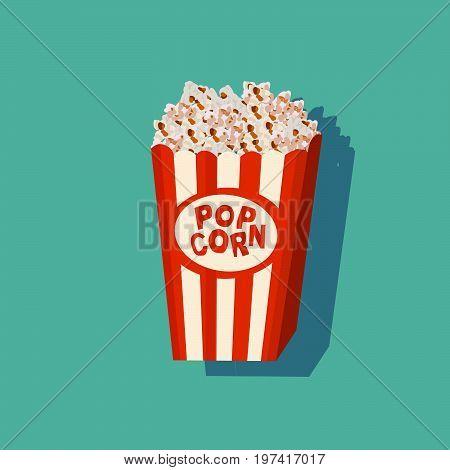 Cinema Popcorn Cartoon Isolated Illustration