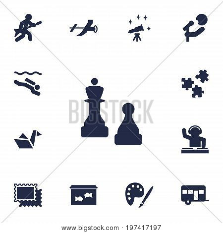 Collection Of Flying, Frogman, Playing And Other Elements.  Set Of 13 Lifestyle Icons Set.