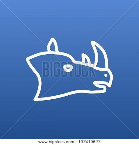 Vector Rhino Element In Trendy Style.  Isolated Rhinoceros Outline Symbol On Clean Background.