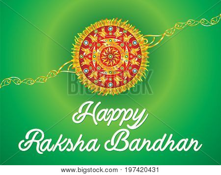 abstract artistic golden rakhi background vector illustration