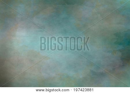 Greenish grungy background with huge brush stain