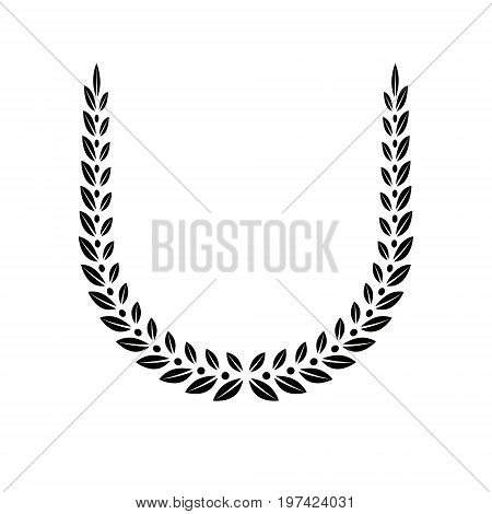 Laurel Wreath floral heraldic element. Heraldic Coat of Arms decorative logo isolated vector illustration.